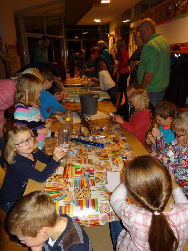 Kinder basteln Futterspender